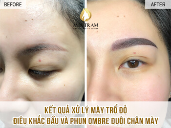 Before And After Remedy Your Old Eyebrow - Sculpting And Spraying Ombre Eyebrow 1