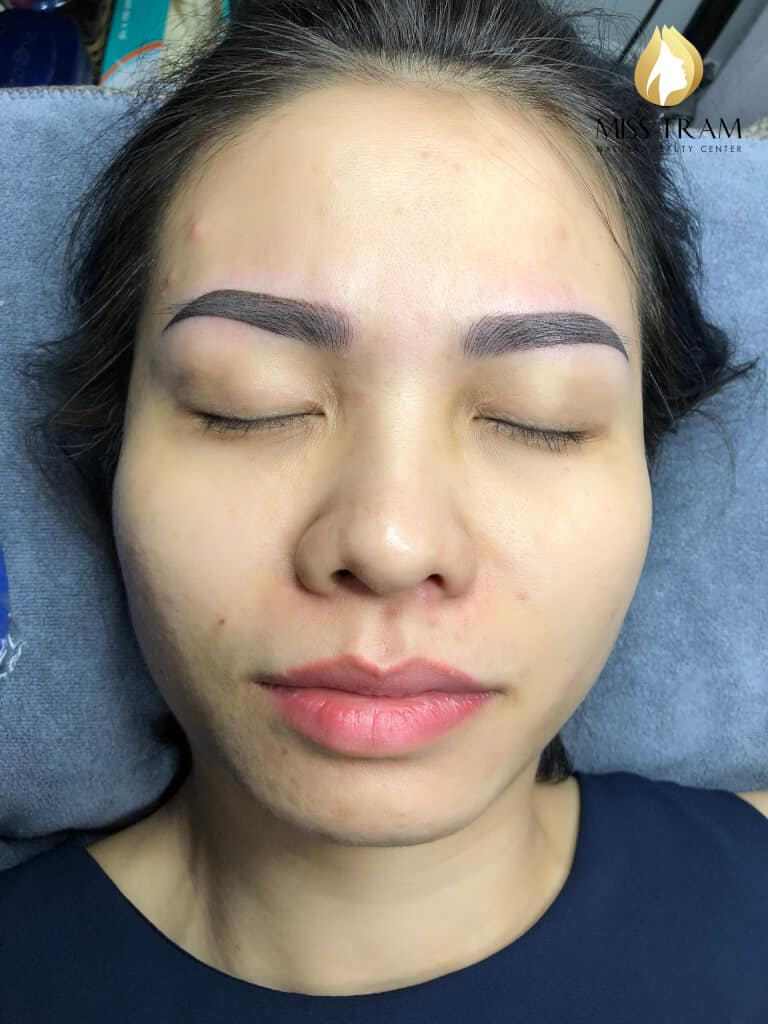 Before And After Treating Your Old Eyebrow - Sculptor Combined With Beautiful Eyebrow Tail 6