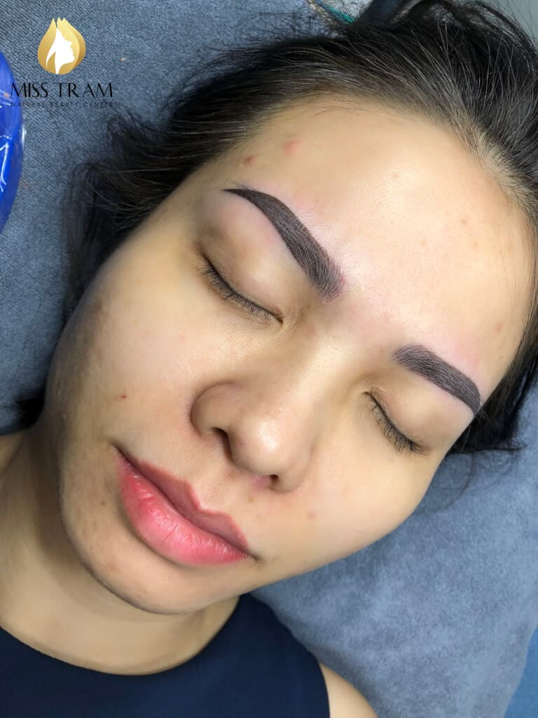 Before And After Old Eyebrows - Sculpting Combined With Beautiful Eyebrow Tail 5