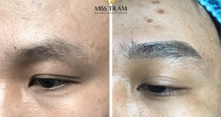 Before and After Beauty Eyebrows With Sculpture Technology 33