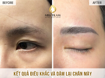 Before And After Sculpting And Mowing A Eyebrow 1