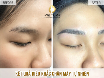 Before and After Sculpting Eyebrows Committing Beautiful Natural Fibers 1