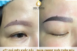 Before And After Overcoming Old Eyebrows - Sculpting And Spraying Ombre Beautiful Eyebrows 22
