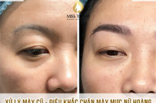 Before And After Handling Old Eyebrows - Sculpting Female Bridesmaids For Women 1