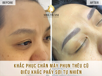 Before And After Remedy Eyebrow Spraying Old Embroidery Sculpting New Eyebrows 1