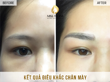 Before And After Shaping And Sculpting Natural Eyebrows 1