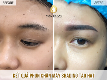 Before And After Spraying Eyebrows Magic Shading Create Particles For Women 1