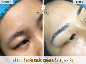 Before And After Correcting Your Small Eyebrow With Sculpt 1