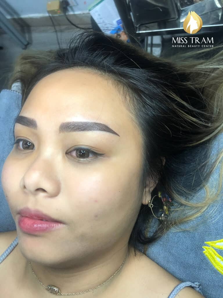 Before And After Processing Old Eyebrows - Sculpture Combination Ombre Eyebrows 3