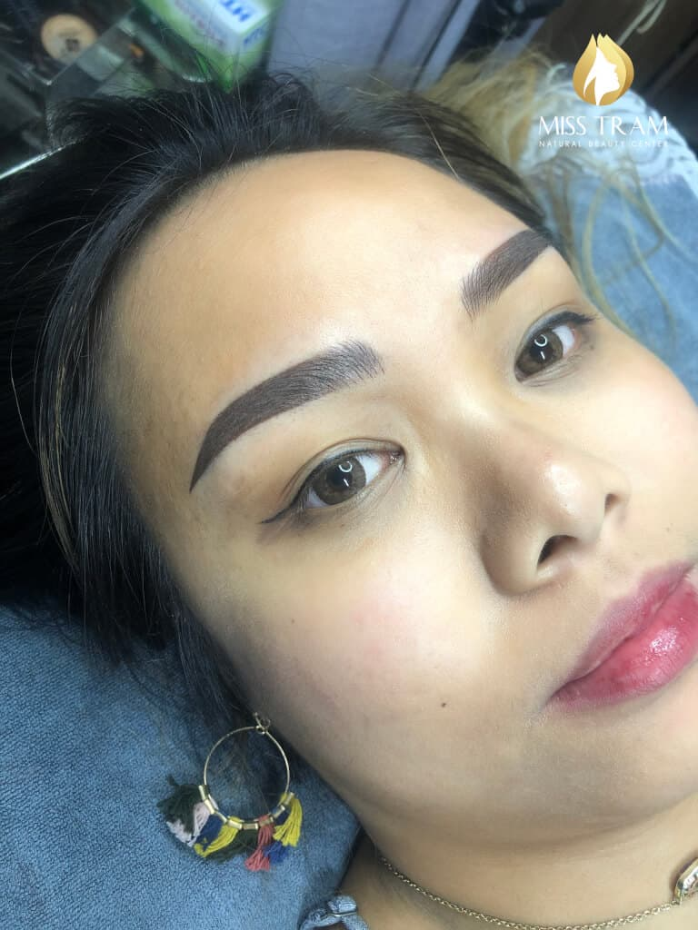 Before And After Processing Old Eyebrows - Sculpture Combination Ombre Eyebrows 4