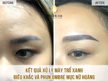 Before And After Processing Old Eyebrows - Sculpture Combination Ombre Eyebrows 1