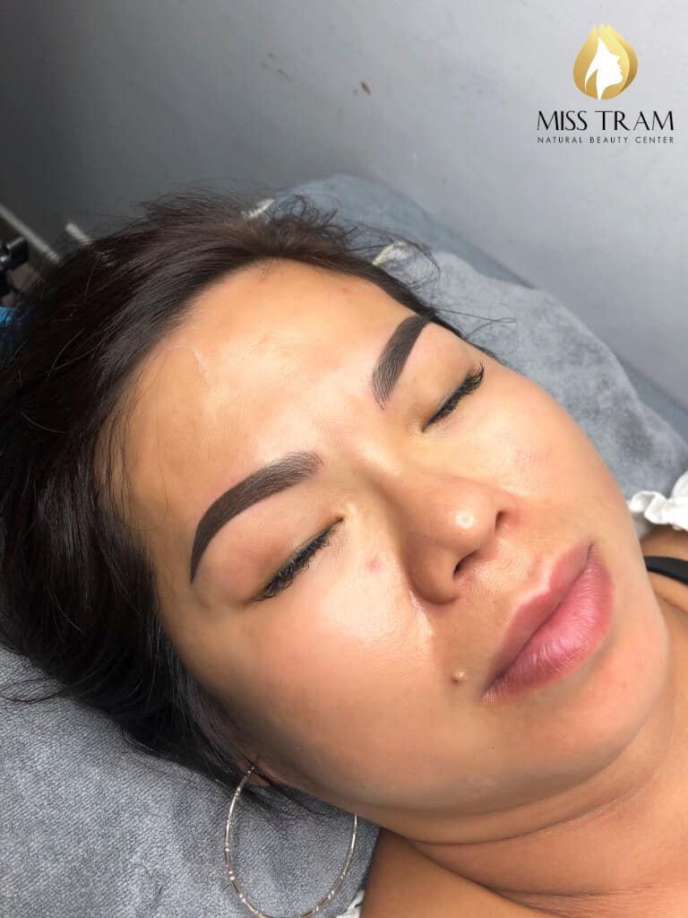 Before And After Processing Old Eyebrows - Sculpting Combined Shading Spray 4
