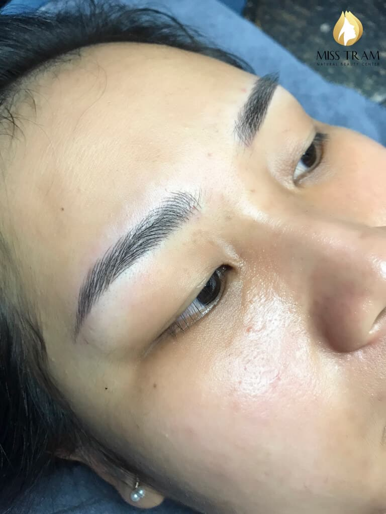 Before And After Repairing The Small Eyebrow With Sculpt 7
