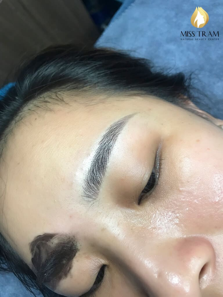 Before And After Repairing The Small Eyebrow With Sculpt 6