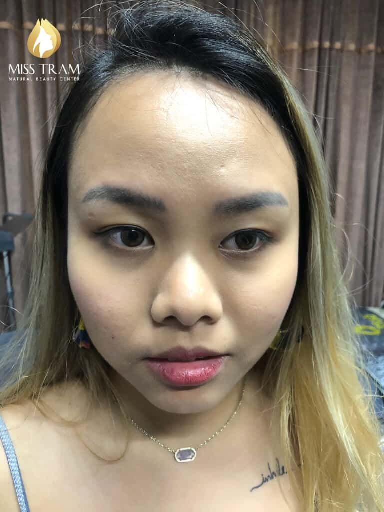 Before And After Processing Old Eyebrows - Sculpture Combination Ombre Eyebrows 2