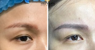 Before And After Handling The Red Eyebrow Sculpt - Sculpting Beautiful Queen Eyebrow 17