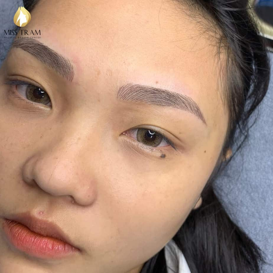 Before and After Sculpting Eyebrows with a Brimming Body Shape 6