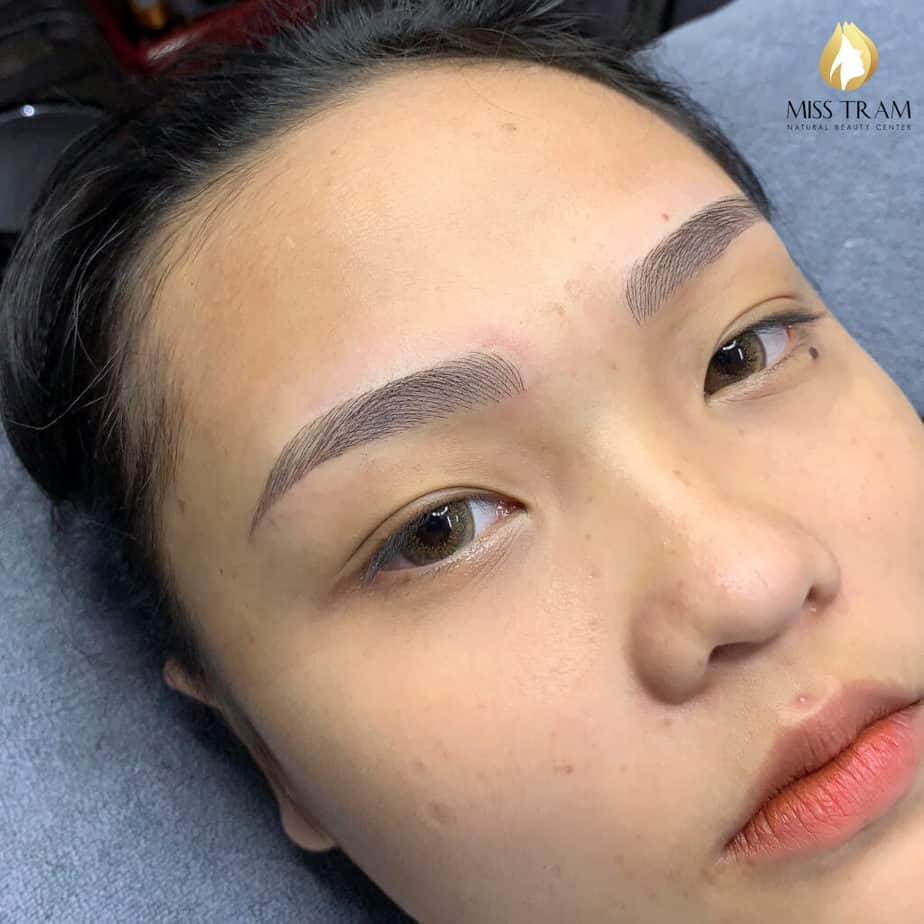 Before and After Sculpting Eyebrows with a Brimming Body Shape 4