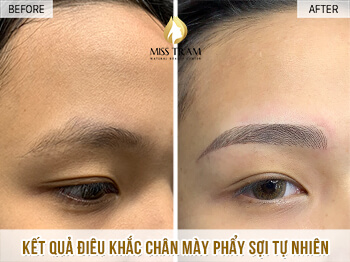 Before and After Sculpting Eyebrows Commemorating the Standard Eyebrows 1