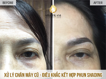 Before And After Old Eyebrows - Sculpting Combined With Shading Beauty 1