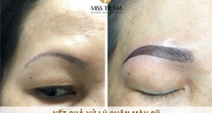 Before And After Processing Old Eyebrows - Sculpture Combination Ombre Particles Sand Eyebrows New 9