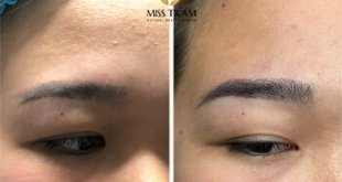 Before and After Processing - Sculpting Eyebrows with Natural Fibers 28