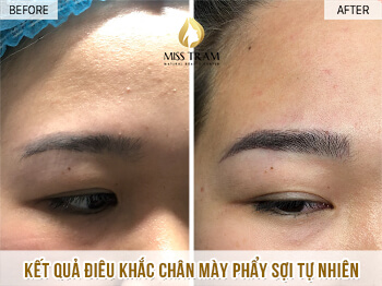 Before and After Treatment - Sculpting Eyebrows with Natural Fibers 1