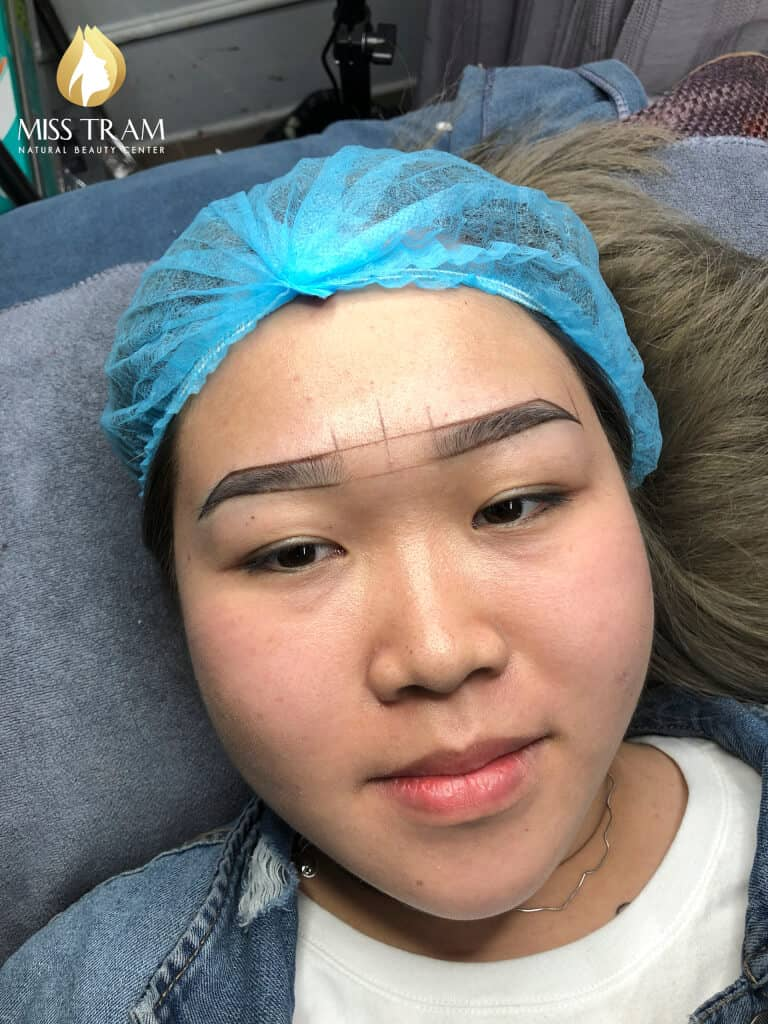 Before and After Processing - Sculpting Eyebrows with Natural Fibers 3