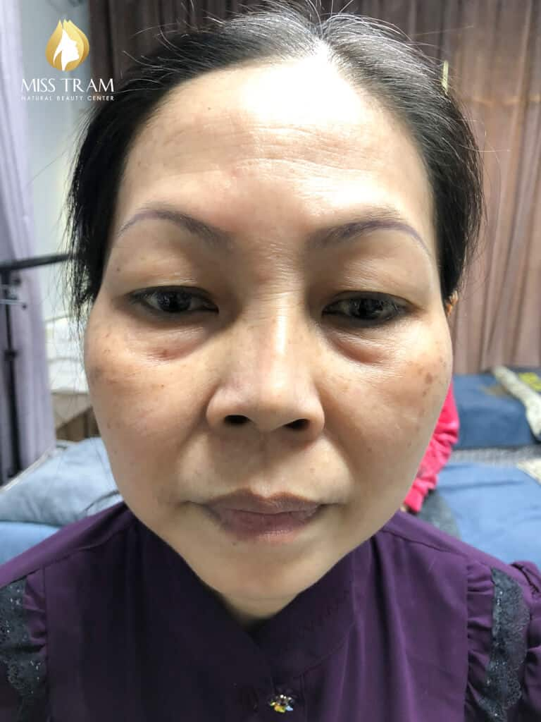 Before And After Processing Old Eyebrows - Sculpture Combination Ombre Particles Sand Eyebrows New 2