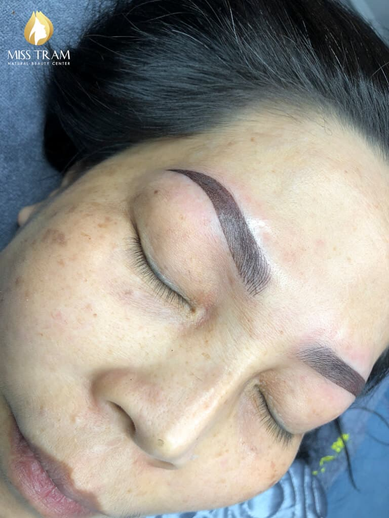 Before And After Processing Old Eyebrows - Sculpture Combined New Ombre Eyebrow Grain 5
