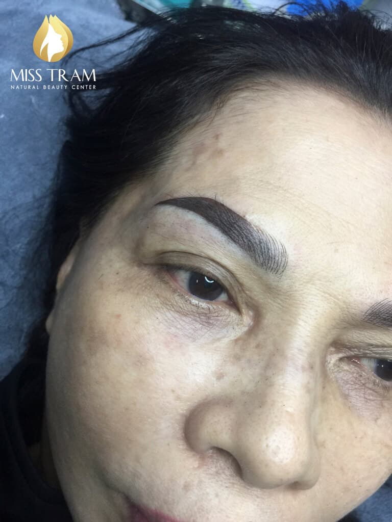Before And After Old Eyebrows - Sculpting Combined With Shading Beauty 4