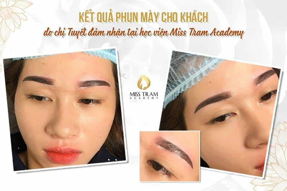 Super Fine Powder Eyebrow Spraying Performed By Practitioner 2