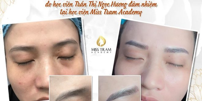 Actual Image Results of Eyebrow Sculpture Practiced by Students 1