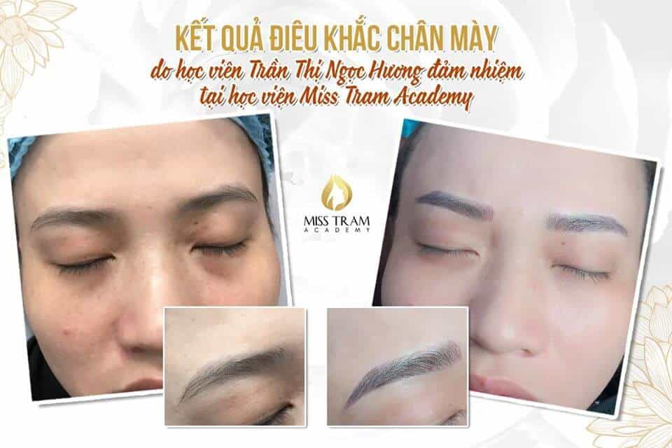 Actual Image Results of Eyebrow Sculpture Practiced by Students 2