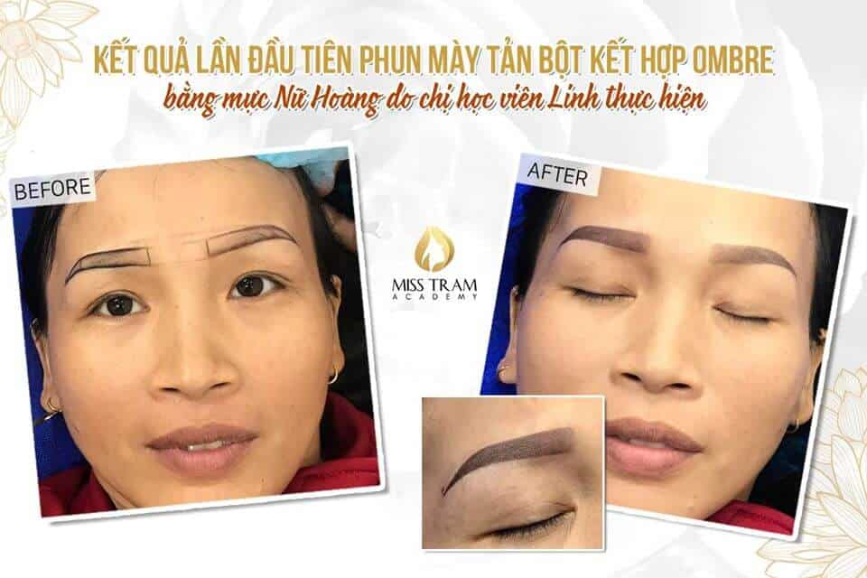Result of Combing Eyebrow Powder with Ombre Combination Using Queen Ink 2
