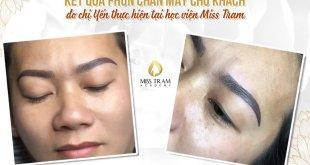 Học Viên Hoàn Thành Quy Trình Phun Chân Mày & Môi Cho Khách Hàng 11