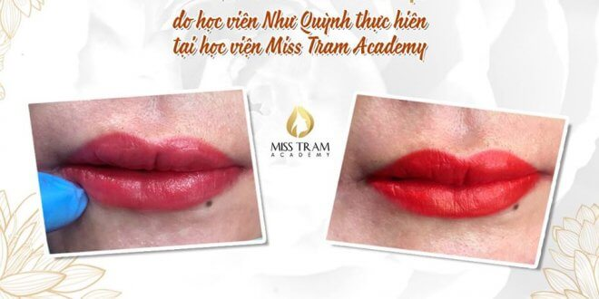 Picture of Beautiful Lip Spray Results Practiced by Students 1