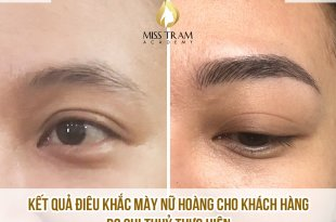 Student Sister Thuy Performs Sculpture of Queen's Eyebrows