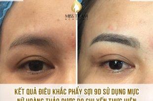 Results of Sister Yen's 9D Queen's Eyebrow Sculpting Practice