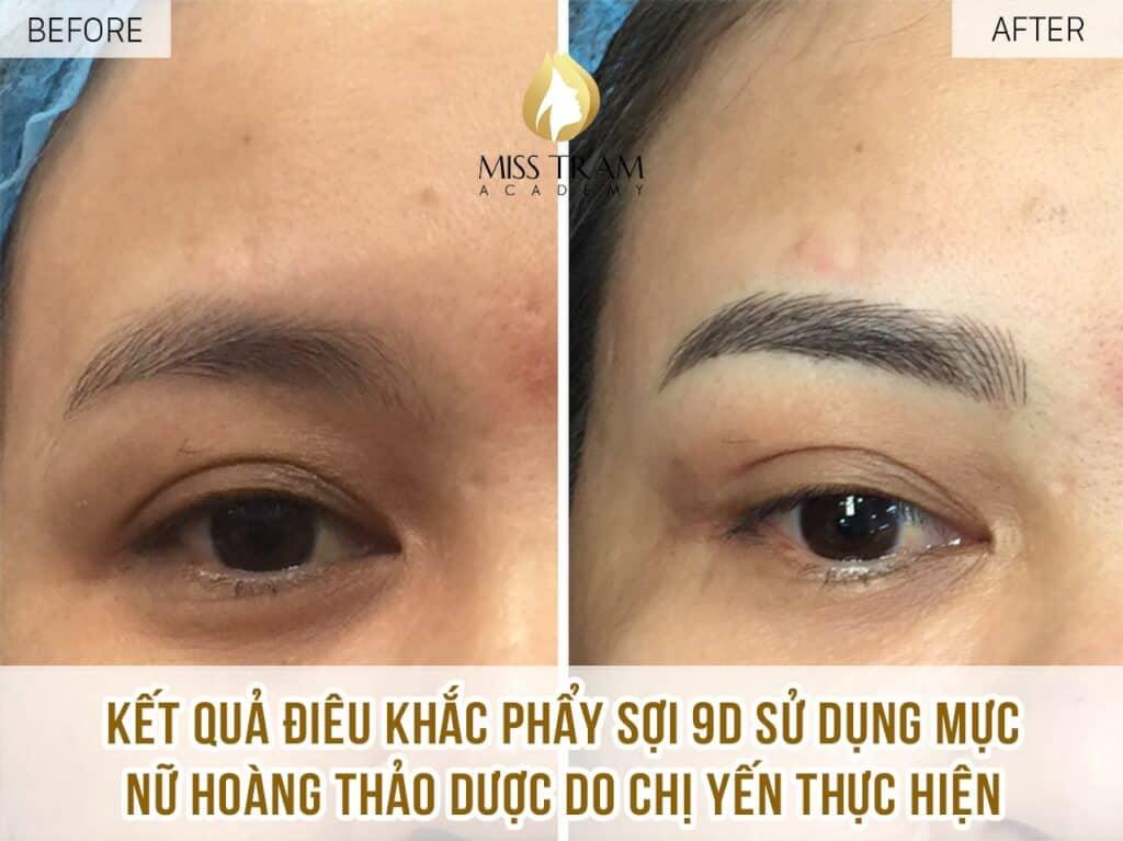 Results of Ms Yen Practicing Sculpting Eyebrow Queen 9D