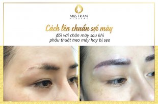 How to prepare eyebrow hair for customers who hang or have scars 1