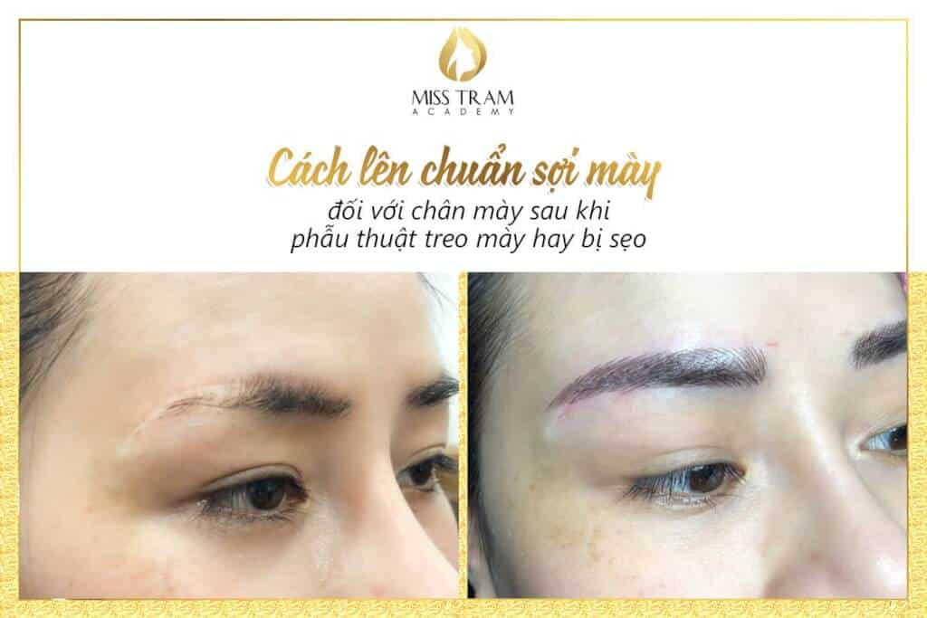 How to prepare standard eyebrows for customers who hang or have scars 2