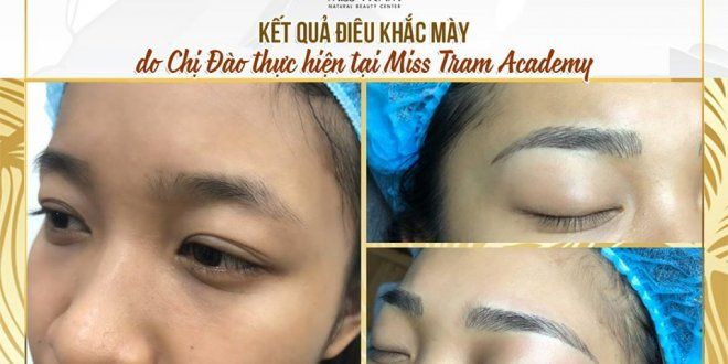 Photo of Results of Eyebrow Sculpture by Students 1