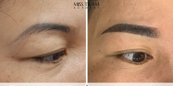 Learners Make Up Blue Eyebrow Handling - Tail Removing Tail, Spraying Ombre Laying Seeds 1