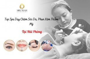 Top Spa for Teaching Skin Care, Cosmetic Tattooing In Hai Phong, prestige, quality, job income