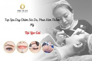 Top Spas teaching the profession of Skin Care, Cosmetic Tattooing In Lao Cai, the most prestigious and best quality today