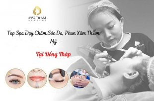 Top Spa Teaching in Dong Thap: Prestigious, high quality Skin Care and Cosmetic Tattooing
