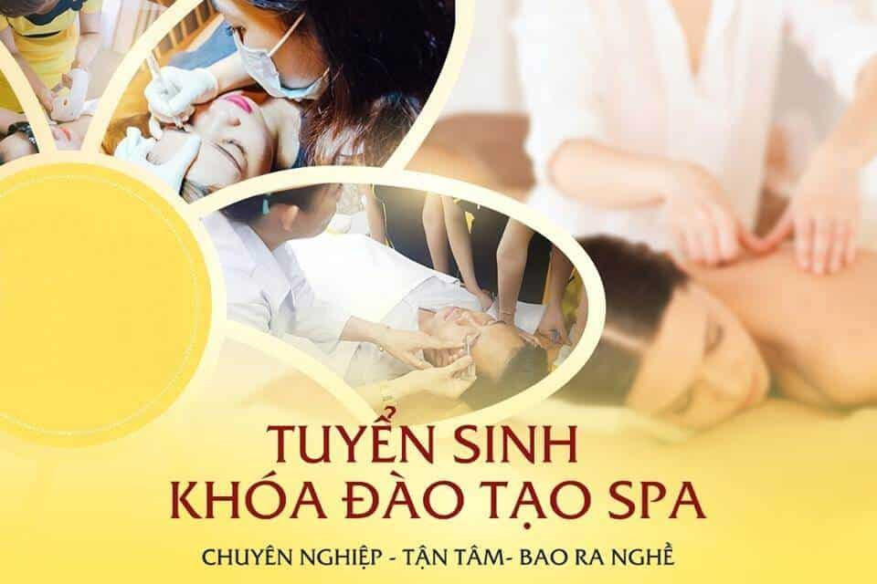 Vocational training course on skin care, cosmetic tattoo spray in Hau Giang