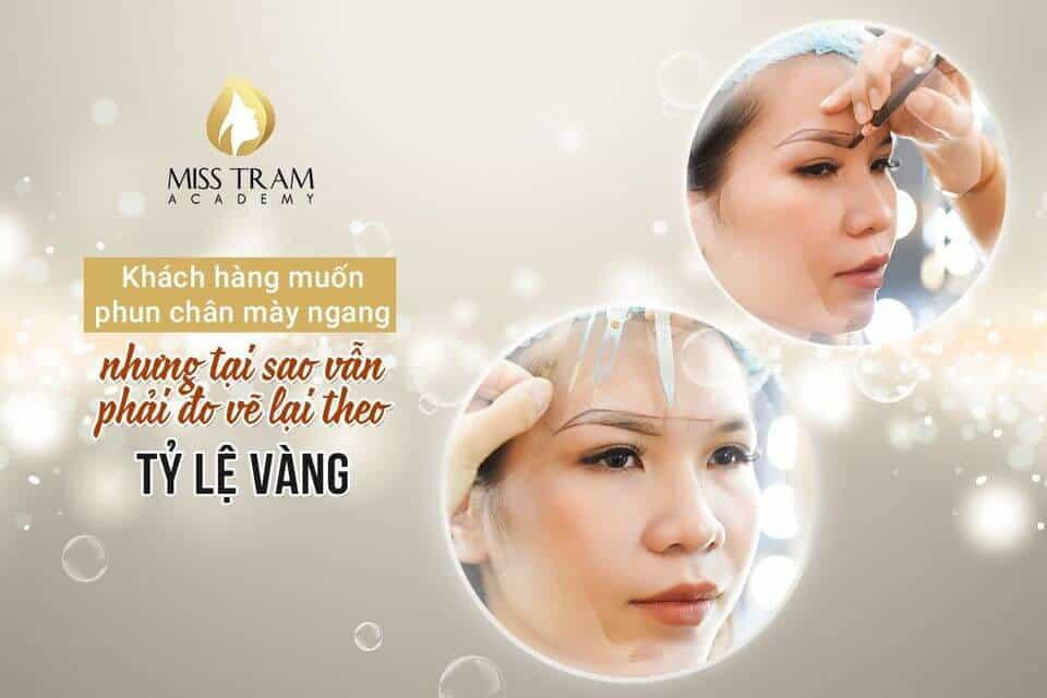 Lý Do Nên Đo Vẽ Theo Tỷ Lệ Vàng Khi Phun Chân Mày Ngang Cho Khách