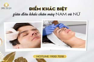 male and female eyebrow sculpting